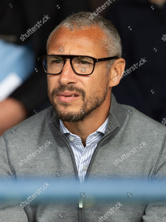 Stock Image of Henrik Larsson on hand to watch the match as a potential manager for Southend United