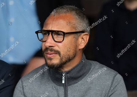 Henrik Larsson on hand to watch the match as a potential manager for Southend United