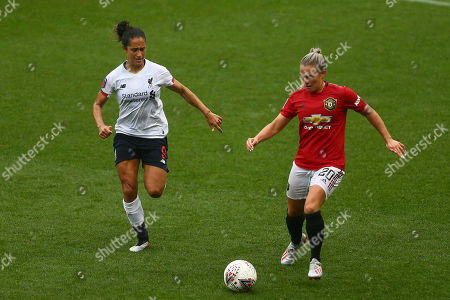 Editorial image of Manchester United Women v Liverpool Women, Barclays FA Women's Super League, Football, Leigh Sports Village, UK - 28 Sep 2019