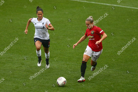 Stock Image of Courtney Sweetman-Kirk of Liverpool and Kirsty Smith of Manchester United