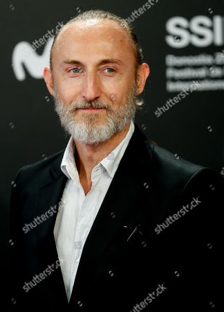 Stock Photo of Guillaume Nicloux attends the premiere of the movie 'Thalasso' at the San Sebastian International Film Festival (SSIFF) in San Sebastian, Basque Country, Spain, 25 September 2019. Thalasso competes in the official section festival, which runs from 20 to 28 September.