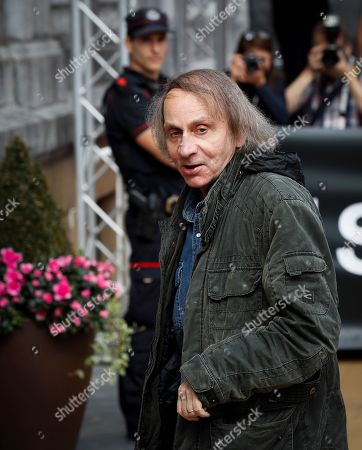 French poet, novelist and essayist Michel Houellebecq (R), at his arrival in his hotel in San Sebastian, Basque Country, Spain, 25 September 2019. Houellebecq is to present his lastest film 'Thalasso', which competes in the official section of San Sebastian International Film Festival, running from 20 to 28 September.