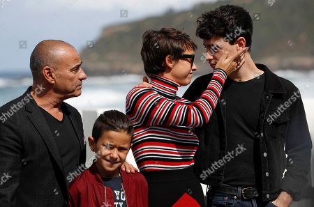 Greta Fernandez (2-R), Eduard Fernandez (L), Alex Monner (R) and Tomas Martin (2-L) pose for the media during the presentation of the film 'La hija de un ladron' (A Thief's Daughter) as part of San Sebastian International Film Festival, in San Sebastian, Basque Country, Spain, 25 September 2019. The film competes in the official section of the festival running from 20 to 28 September.