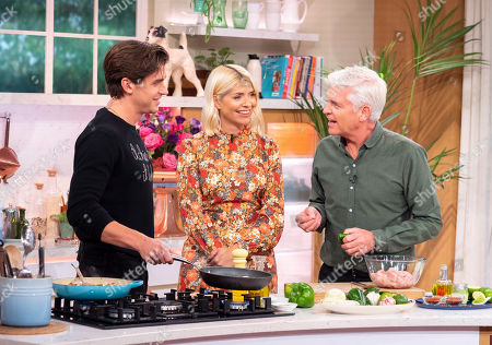 Phillip Schofield and Holly Willoughby with Antoni Porowski