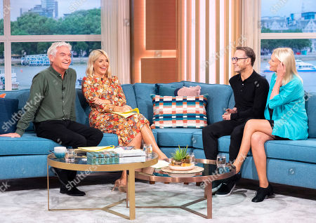 Phillip Schofield and Holly Willoughby with Kevin Clifton and Anneka Rice