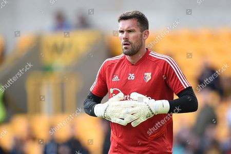28th September 2019, Molineux, Wolverhampton, England; Premier League, Wolverhampton Wanderers v Watford : Ben Foster (26) of Watford during the pre match warm up.