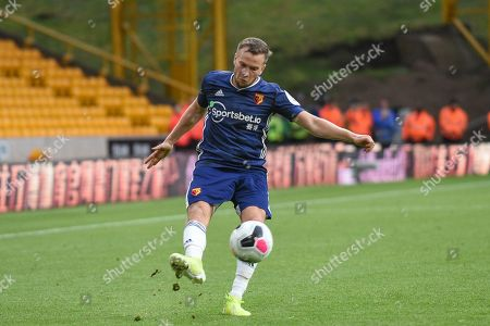 28th September 2019, Molineux, Wolverhampton, England; Premier League, Wolverhampton Wanderers v Watford : Tom Cleverley (8) of Watford in action during the game
