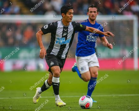 Stock Image of 29th September 2019, King Power Stadium, Leicester, England; Premier League, Leicester City v Newcastle United : Yoshinori Muto (13) of Newcastle United with the ball 
