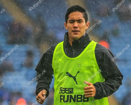29th September 2019, King Power Stadium, Leicester, England; Premier League, Leicester City v Newcastle United : Yoshinori Muto (13) of Newcastle United in warm up