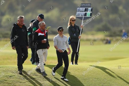ST ANDREWS, SCOTLAND. 26 SEPTEMBER 2019: Musician Bradley Simpson during round one of the Alfred Dunhill Links Championship, European Tour Golf Tournament at St Andrews, Scotland