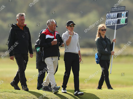 Stock Image of ST ANDREWS, SCOTLAND. 26 SEPTEMBER 2019: Musician Bradley Simpson during round one of the Alfred Dunhill Links Championship, European Tour Golf Tournament at St Andrews, Scotland