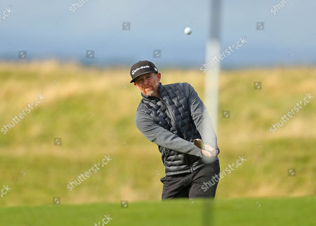 Stock Image of ST ANDREWS, SCOTLAND. 26 SEPTEMBER 2019: Musician Dave Farrell during round one of the Alfred Dunhill Links Championship, European Tour Golf Tournament at St Andrews, Scotland