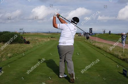 ST ANDREWS, SCOTLAND. 26 SEPTEMBER 2019: Kiradech Aphibarnrat of Thailand during round one of the Alfred Dunhill Links Championship, European Tour Golf Tournament at St Andrews, Scotland