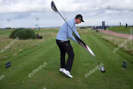 ST ANDREWS, SCOTLAND. 26 SEPTEMBER 2019: An in camera fault results in an image of Nicolas Colsaerts of Belgium appearing to have 3 clubs during round one of the Alfred Dunhill Links Championship, European Tour Golf Tournament at St Andrews, Scotland
