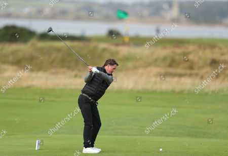 Stock Picture of ST ANDREWS, SCOTLAND. 26 SEPTEMBER 2019: Sir Tony McCoy during round one of the Alfred Dunhill Links Championship, European Tour Golf Tournament at St Andrews, Scotland
