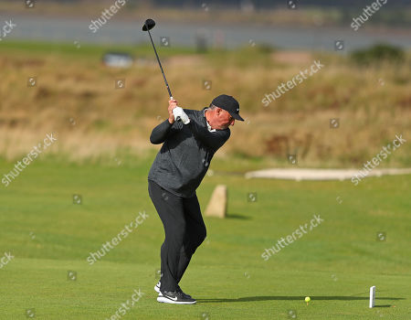 ST ANDREWS, SCOTLAND. 26 SEPTEMBER 2019: Sir Ian Botham during round one of the Alfred Dunhill Links Championship, European Tour Golf Tournament at St Andrews, Scotland