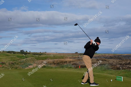 KINGSBARNS, SCOTLAND. 28 SEPTEMBER 2019: Shane Warne during round three of the Alfred Dunhill Links Championship, European Tour Golf Tournament at Kingsbarns, Scotland