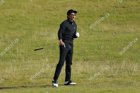 Stock Image of KINGSBARNS, SCOTLAND. 28 SEPTEMBER 2019: Singer Brad Simpson during round three of the Alfred Dunhill Links Championship, European Tour Golf Tournament at Kingsbarns, Scotland