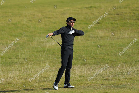 KINGSBARNS, SCOTLAND. 28 SEPTEMBER 2019: Singer Brad Simpson during round three of the Alfred Dunhill Links Championship, European Tour Golf Tournament at Kingsbarns, Scotland