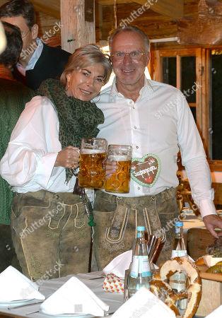 Karl Heinz Rummenigge and Martina Rummenigge