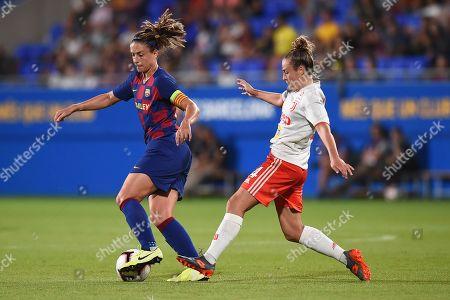 Alexia Putellas of FC Barcelona and Aurora Galli of Juventus