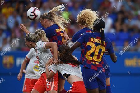Stock Image of Stefanie Van der Gragt of FC Barcelona escores the 2-0