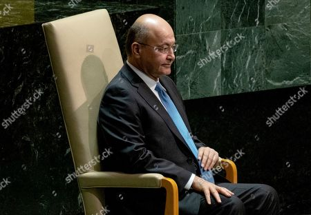 Editorial image of United Nations General Assembly Iraq - 25 Sep 2019