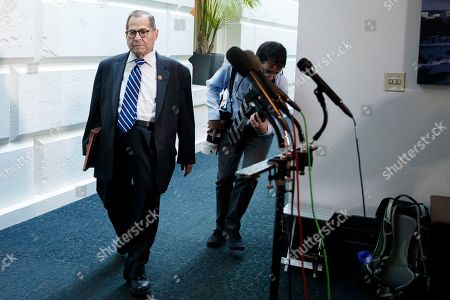 Chairman of the House Judiciary Committee Jerry Nadler as he walks from a Democratic caucus meeting on Capitol Hill in Washington, DC, USA, 25 September 2019. Speaker of the House Nancy Pelosi  announced on 24 September that the House of Representatives will conduct an impeachment inquiry into US President Donald J. Trump.