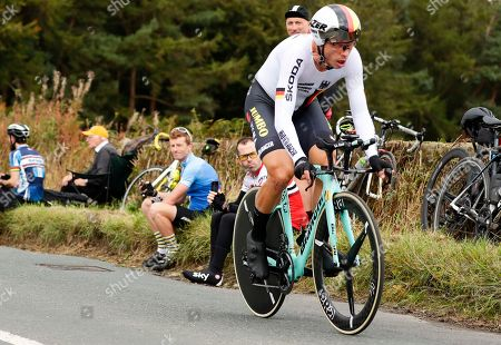 Germany's Tony Martin competes in the men's elite individual time trial event, at the road cycling World Championships in Harrogate, England