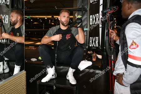 Billy Joe Saunders during a Media Workout at the BXR Gym on 25th September 2019