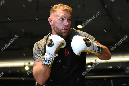 Stock Photo of Billy Joe Saunders during a Media Workout at the BXR Gym on 25th September 2019