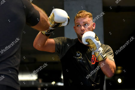 Stock Image of Billy Joe Saunders during a Media Workout at the BXR Gym on 25th September 2019