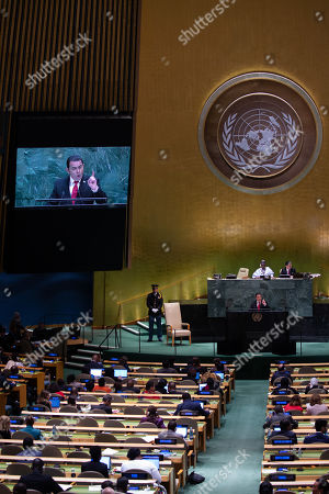Editorial photo of General Debate of the 74th session of the General Assembly of the United Nations, New York, USA - 25 Sep 2019
