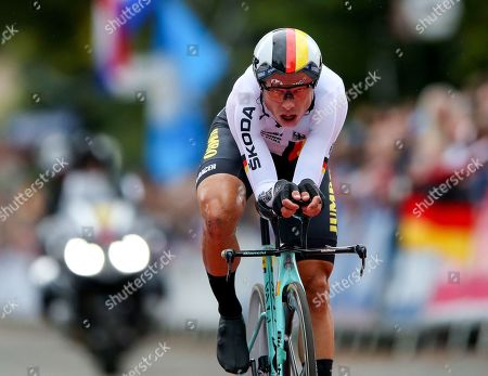 Tony Martin of Germany competes in the Men Elite Individual Time Trial during the UCI World Championships in Harrogate, Britain, 25 September 2019.