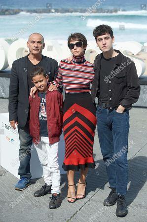 Greta Fernandez, Eduard Fernandez, Alex Monner and Tomas Martin