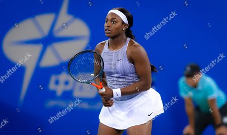 Stock Picture of Sloane Stephens of the United States in action during her third-round match