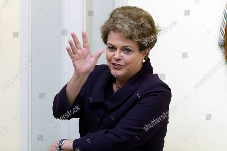 Former Brazilian president Dilma Rousseff poses for the media during an interview to Spanish news agency EFE held in Madrid, Spain, 25 September 2019. Rousseff qualified the speech of Jair Bolsonaro at UN headquarters as a 'planetary shame'.