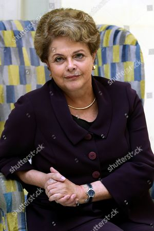Editorial photo of Dilma Rousseff interview in Spain, Madrid - 25 Sep 2019