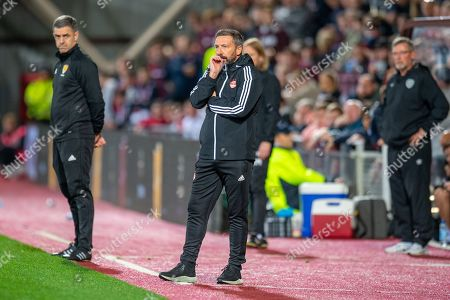 Aberdeen manager Derek McInnes during the Betfred Scottish Football League Cup quarter final match between Heart of Midlothian FC and Aberdeen FC at Tynecastle Stadium, Edinburgh