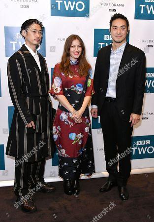 Yosuke Kubozuka, Kelly Macdonald and Takehiro Hira