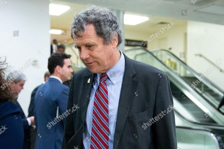 Democratic Senator from Ohio Sherrod Brown walks near the Senate subway on his way to a closed intelligence briefing for US senators on the subject of Iran, on Capitol Hill in Washington, DC, USA, 25 September 2019.
