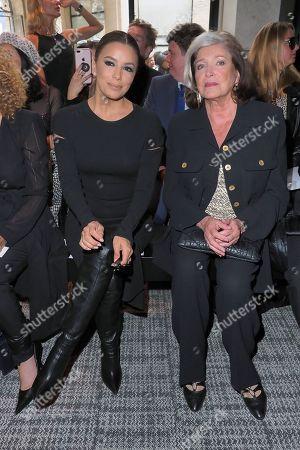 Eva Longoria and Francoise Fabian in the front row.