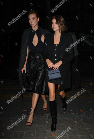 Editorial photo of Karlie Kloss and Kaia Gerber out and about, Paris Fashion Week, France - 25 Sep 2019