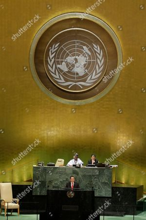 Guatemala's President Jimmy Morales addresses the 74th session of the United Nations General Assembly, at the United Nations headquarters