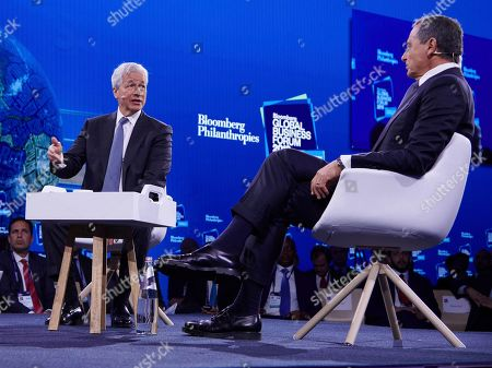 Jamie Dimon, Bob Iger. Jamie Dimon, JPMorgan Chase Chairman and CEO, and Bob Iger, The Walt Disney Company Chairman and CEO, speaking at the 2019 Bloomberg Global Business Forum in New York City on