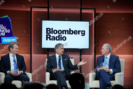 Brian Moynihan, Anand Mahindra, Stephen Schwarzman. Brian Moynihan, Chairman and CEO of Bank of America, Anand Mahindra, Chairman of Mahindra Group and Stephen Schwarzman, Chairman and CEO of The Blackstone Group speaking at the 2019 Bloomberg Global Business Forum in New York City on