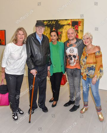 Nikki Caine, her father Sir Michael Caine, Shakira Caine, Lincoln Townley and Denise Welch