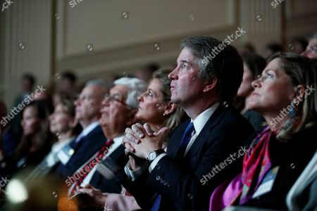 Supreme Court Justice Brett Kavanaugh attends an event celebrating Sandra Day O'Connor, the first woman to be a Supreme Court Justice, at the Library of Congress in Washington