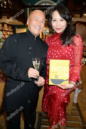 Stock Image of Ken Hom and Ching-He Huang