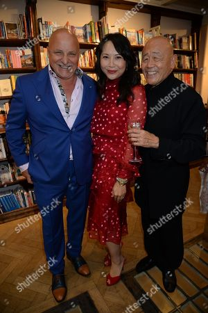 Stock Photo of Aldo Zilli, Ching-He Huang and Ken Hom